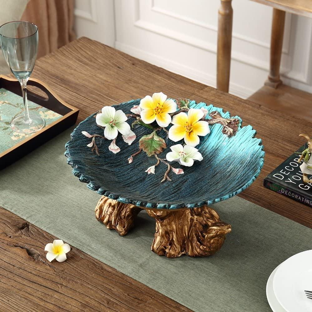 Bwlzsp 1 PCS Creative pottery fruit plate European luxury household Desktop display sculpture candy plates LU706238