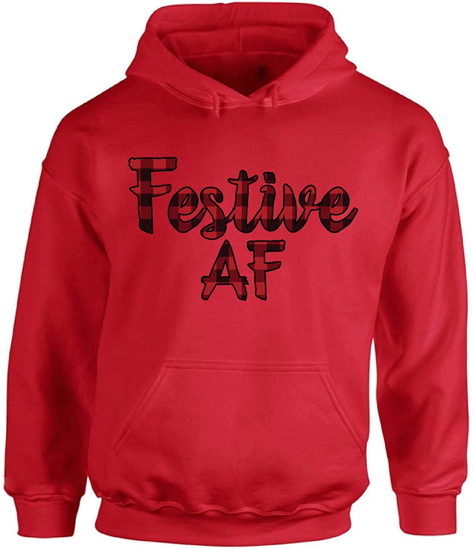 Awkward Styles Ugly Xmas Hoodie Christmas Festive AF Plaid Hooded Sweatshirt