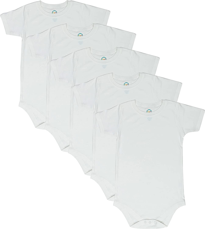 CBObaby Toddler Bodysuit Short Sleeve Round Neck 5-Pack