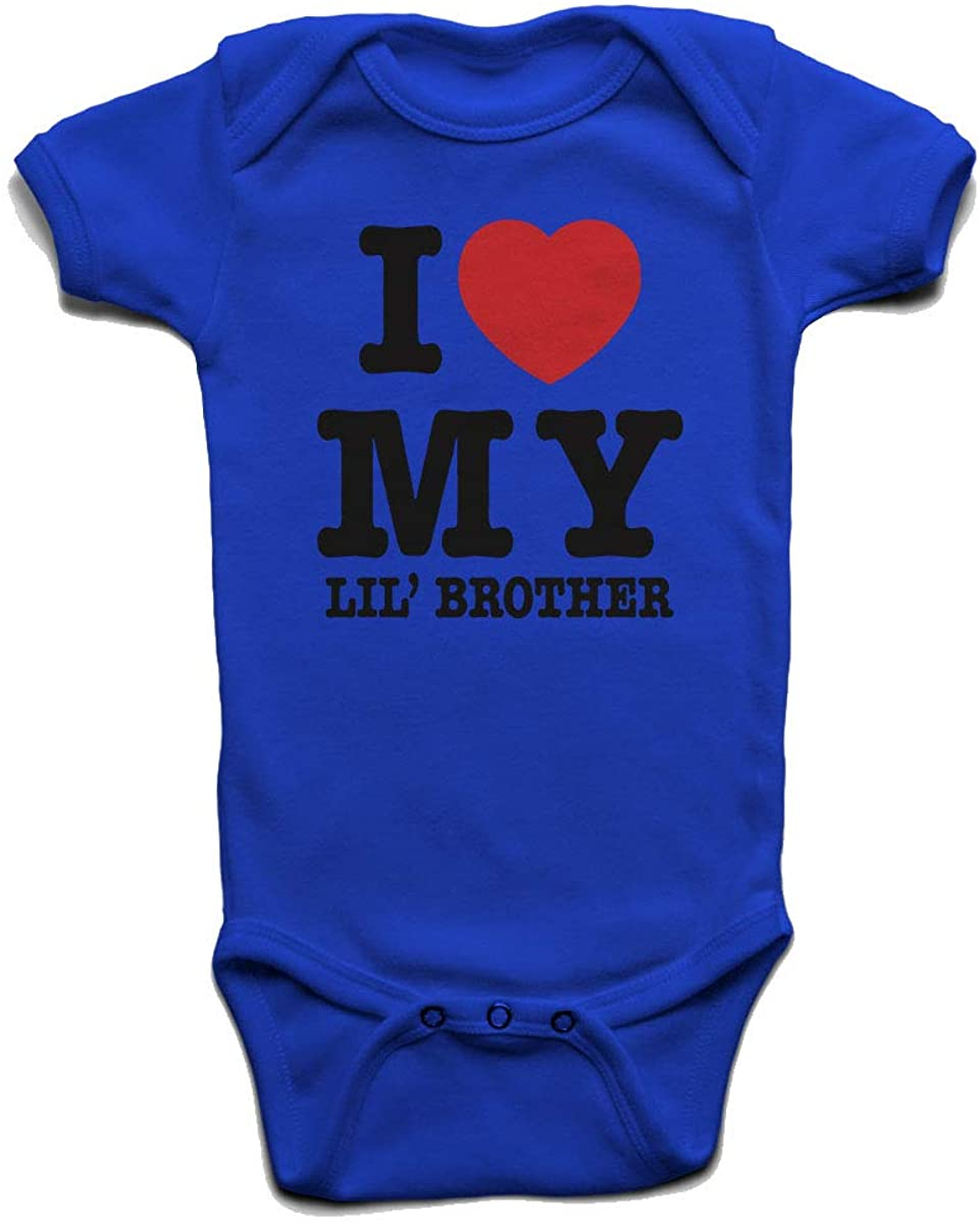 I Love My Lil Brother Baby Boys Girls Onesie