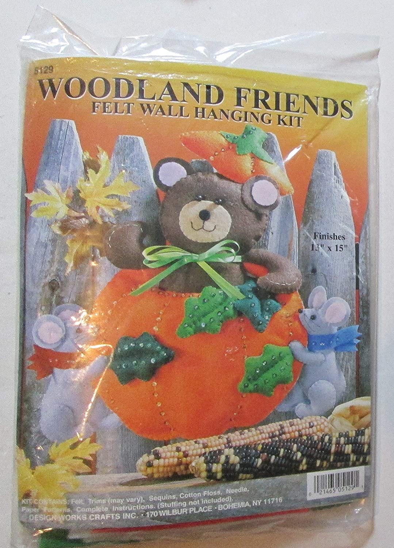 DesignWorks Crafts Felt Wall Hanging Kit 5129 Woodland Friends