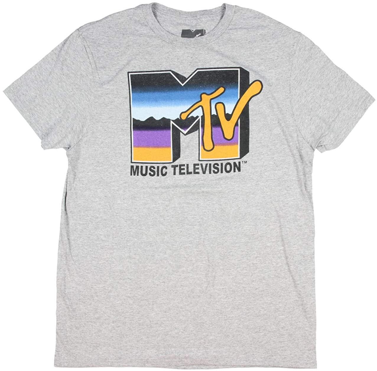 Seven Times Six MTV Men's Music Television Purple Blue Orange Logo Fill T-Shirt