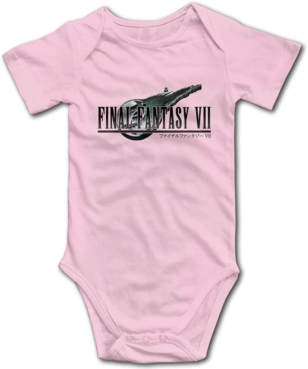 Kaihngl Baby Boy Girl Final Fantasy Logo Anime Cotton Lovely Newborn Infant Baby Onesies Bodysuit T Shirt