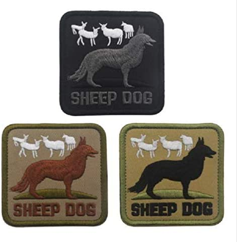 Sheep Dog Embroidery Patch Military Tactical Morale Patch Badges Emblem Applique Hook Patches for Clothes Backpack Accessories