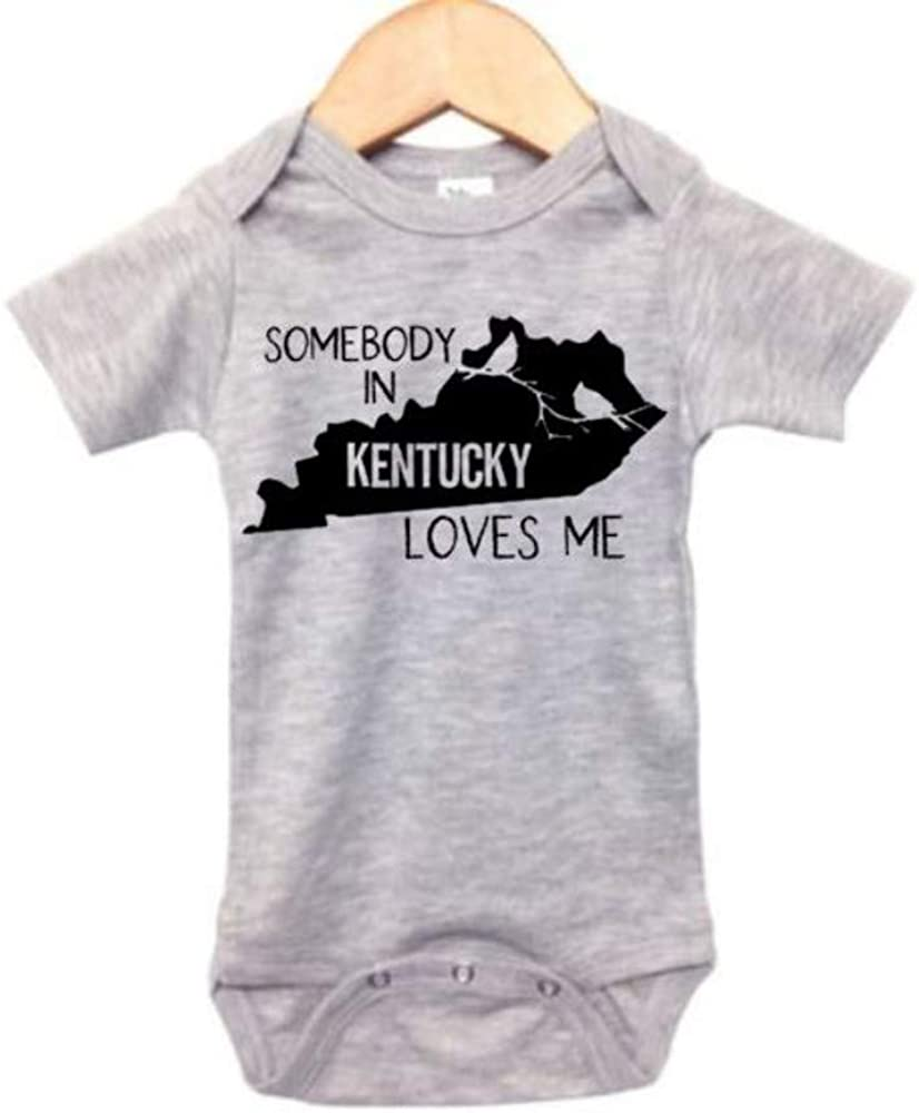 Somebody in Kentucky Loves Me/Baby KY Onesie/Infant Bodysuit/Newborn Outfit