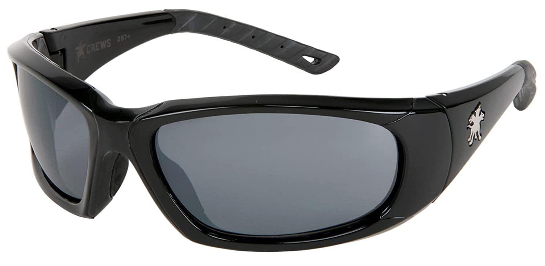 MCR Safety Forceflex FF312AF Gray Anti-Fog Lens Safety Glasses, Mil-31013, ANSI Z87+