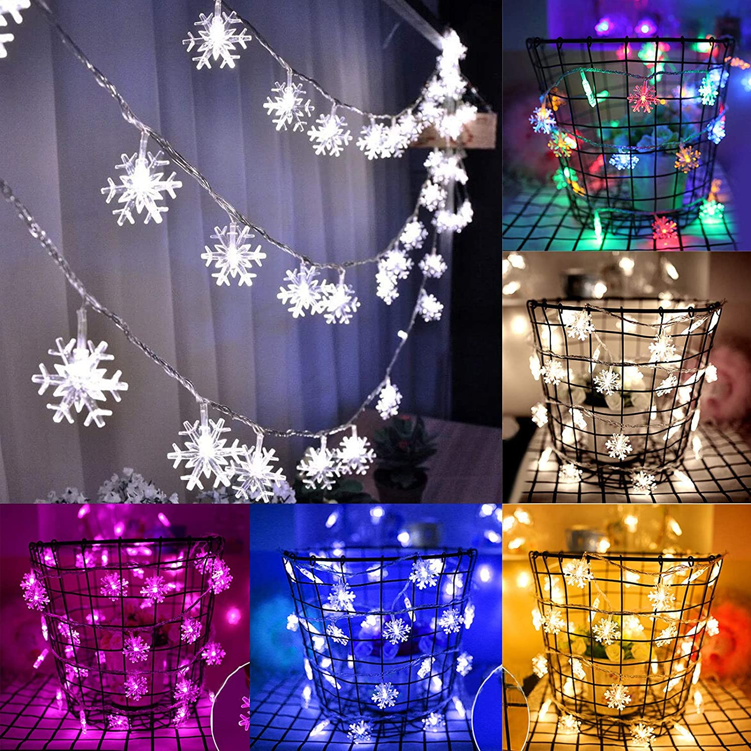 Worthown 3M 20LED Christmas Lights Fairy String Lights Xmas Tree Party Home Wedding Garden Decoration (Colorful)