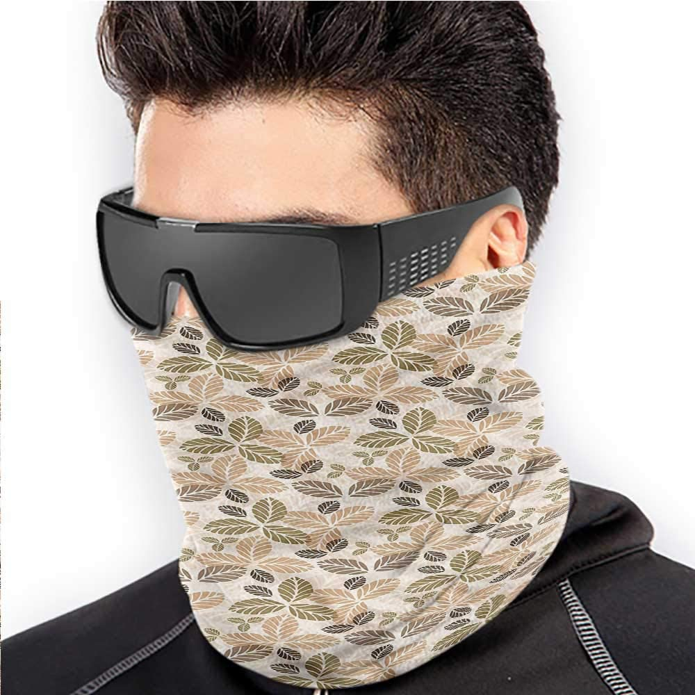 Neck Warmer Autumn For Men Women Outdoors/Festivals/Sports Fall Season Foliage 10 x 12 Inch