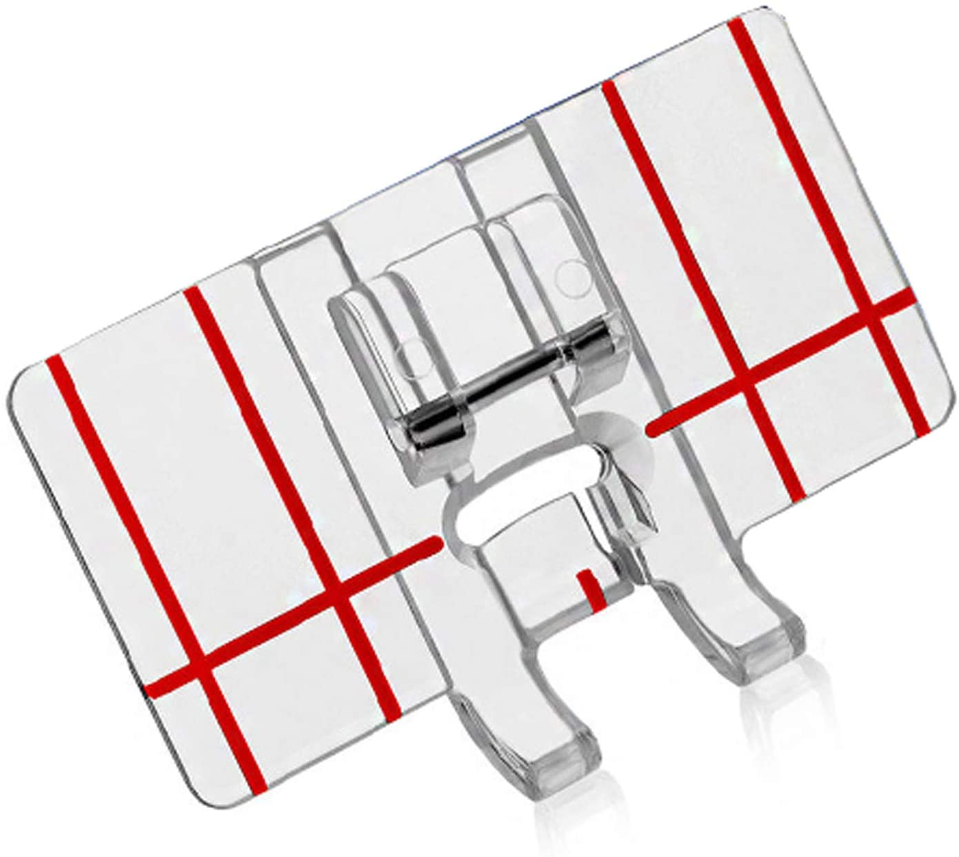 DREAMSTITCH BLDY-BGF, JAG605 Border Guide Presser Foot for All Low Shank Snap-On Singer,Brother,Babylock,Euro-Pro,Janome,Kenmore,White,Juki,Janome(New Home),Simplicity,Elna Sewing Machine 605