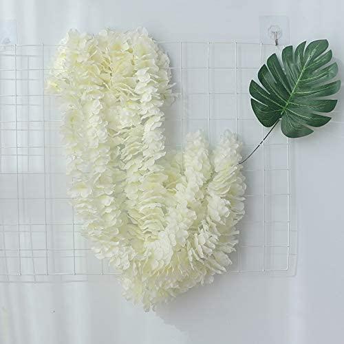 Bamboo Simulation Flower String Hydrangea String Decoration Purple Vine Sinob Sihua String Flower Strip Milk White 2M