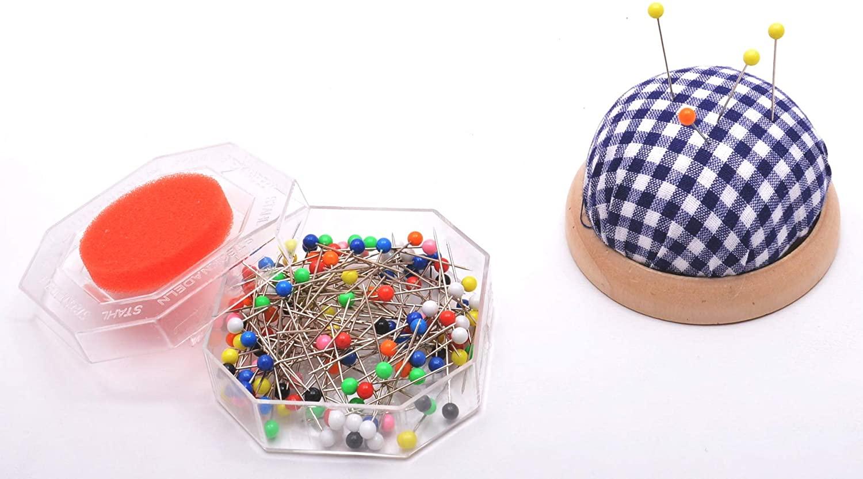 Trimz 40 Colourful Round Plastic Head Pins 32mm-10pks, Metal, Multicoloured, 6 x 4 x 1 cm