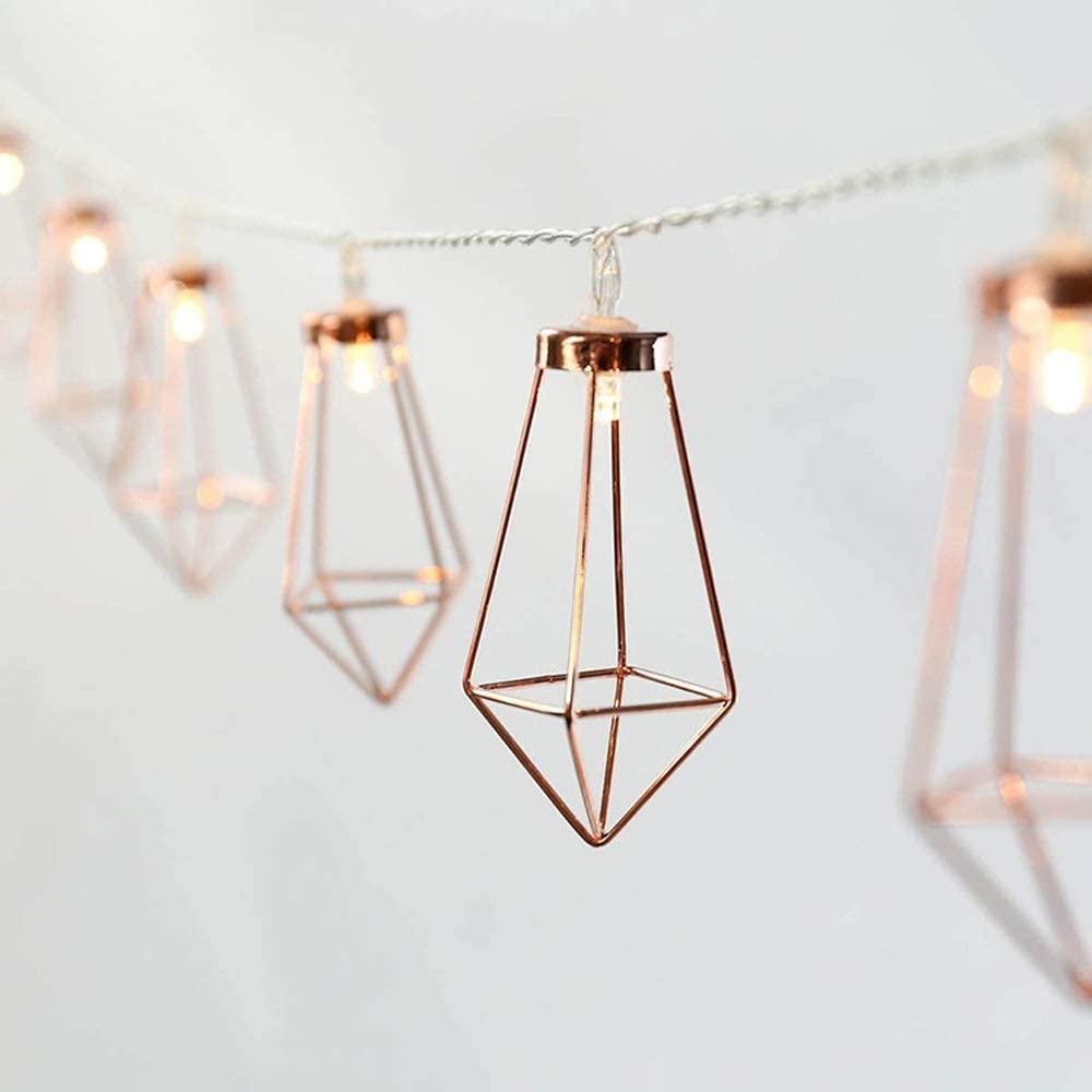Kadis Diamond Decor Droplet Shaped 20Leds 10 Foot String Light,LED Fairy String Lighting Battery Powered for Christmas Home Wedding Party Bedroom Birthday Decoration