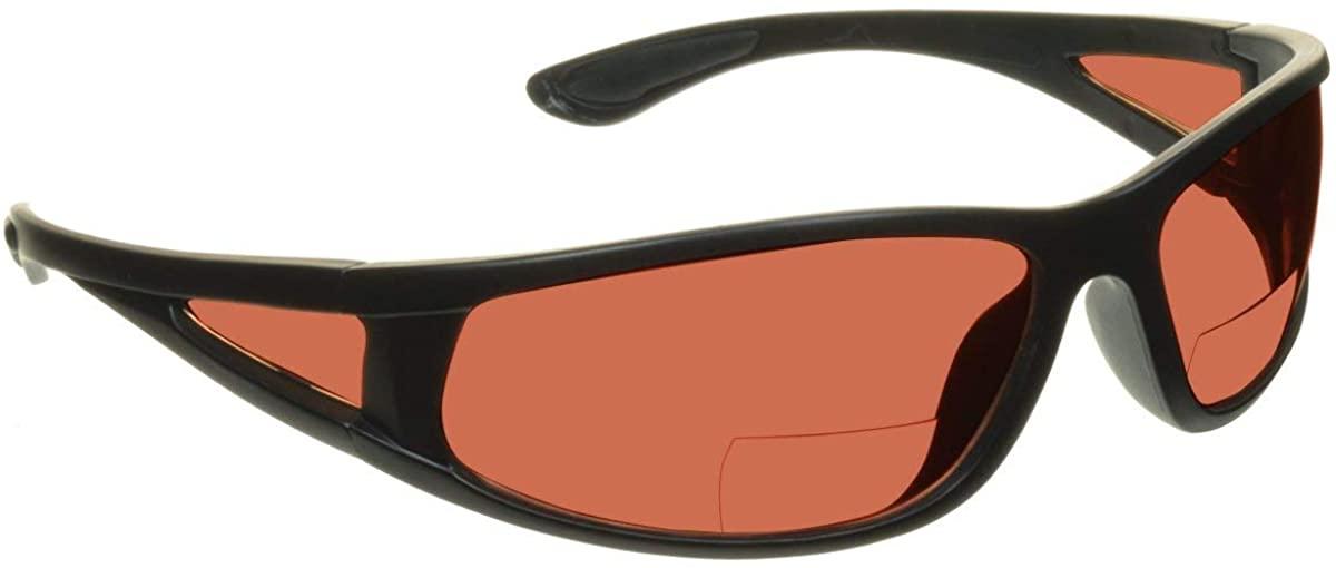 proSPORT HD Sport Bifocal Reader Sunglasses Blue Block Sport Wrap Side Shield