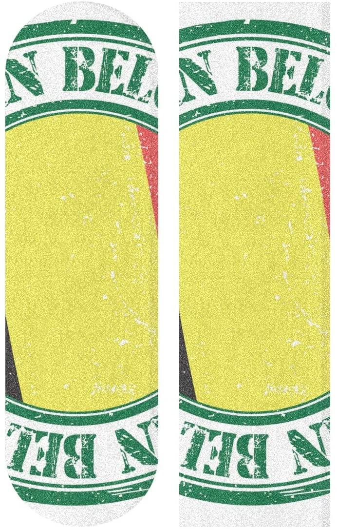 YQINING Skateboard Sandpaper, Pattern 33.1 x 9.1 inch Skateboard Pedal Tape,Self-Adhesive Bubble-Free Waterproof Non-Slip Skateboard Grip Tape Long Board Skateboard Griptape Sticker