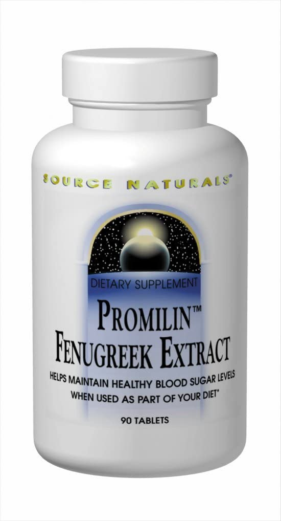 SOURCE NATURALS Promilin Fenugreek Extract 500 Mg Tablet, 90 Count