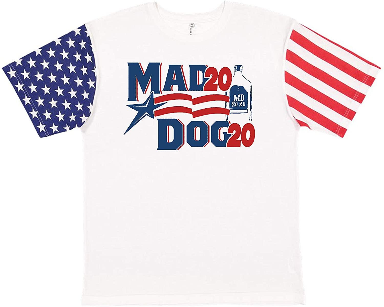 All Things Apparel Mad Dog 2020 President Stars & Stripe Sleeves Men's T-Shirt