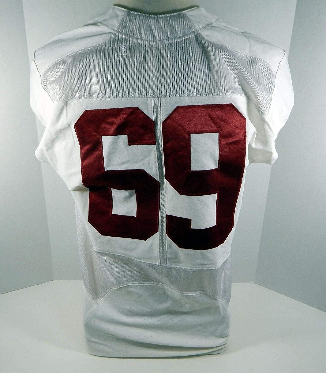 2016-18 Alabama Crimson Tide #69 Game Used White Jersey BAMA00098 - College Game Used