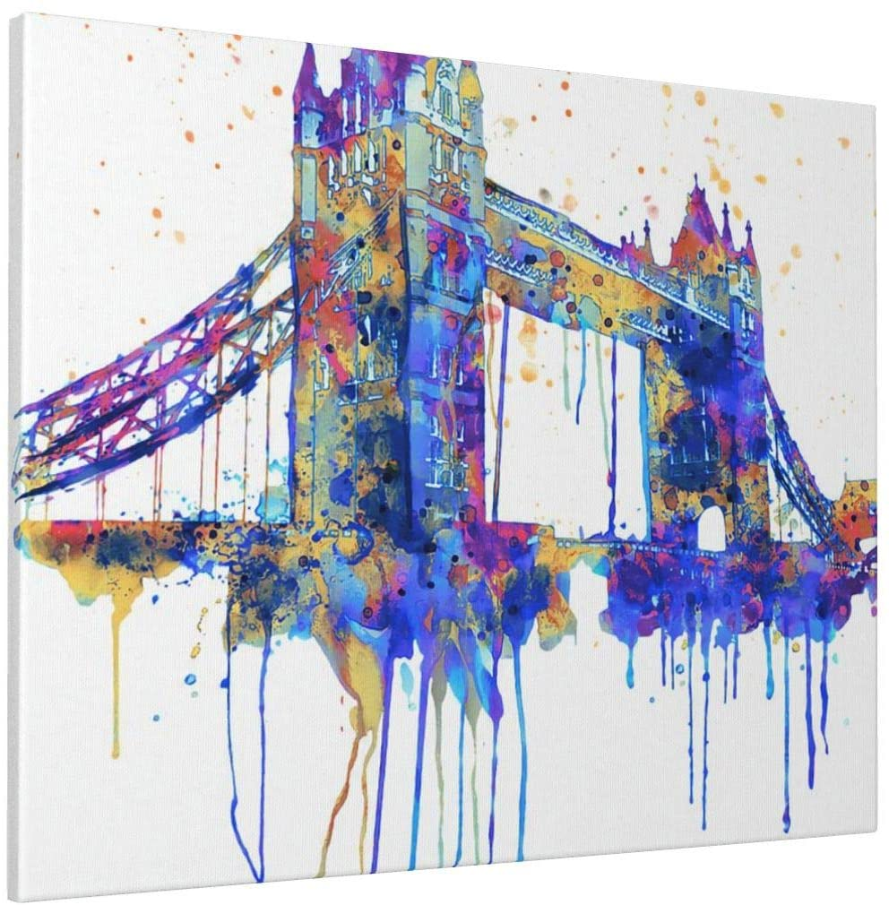 CONNORHODGSON London Bridge Gifts Wall Decor Without Frame Drawing 16x20inch