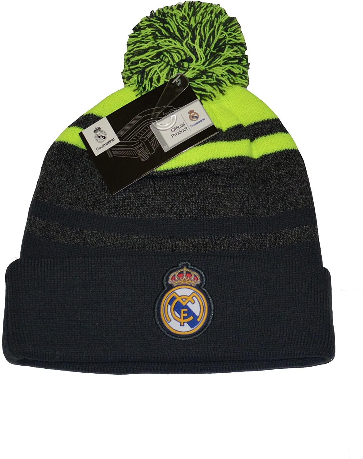 Real Madrid Fc Beanie Pom Pom Skull Cap Hat New Season 2015-2016