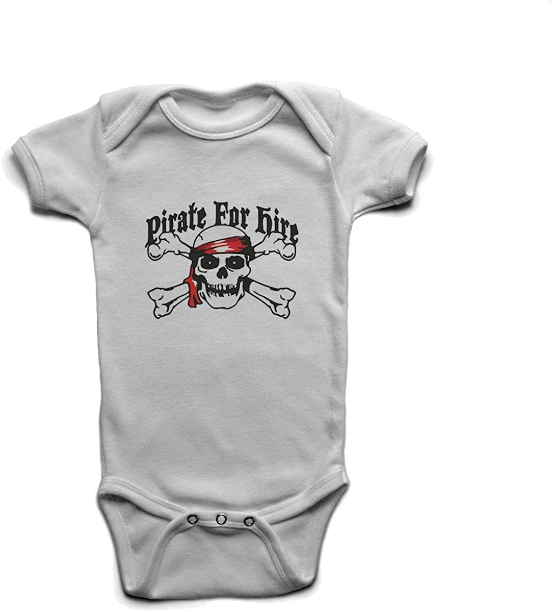 Custom Tshirts and Hats Pirate for Hire Baby Boys Girls Onesie