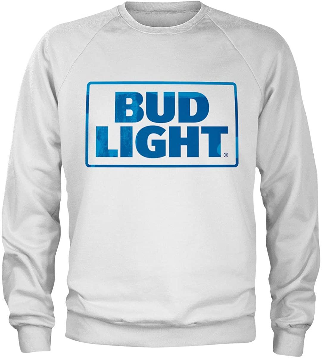 Budweiser Officially Licensed Red Logo Sweatshirt (White)