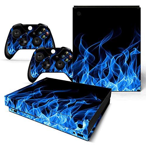 ModFreakz™ Console/Controller Vinyl Skin Set - Blue Fire for Xbox One X