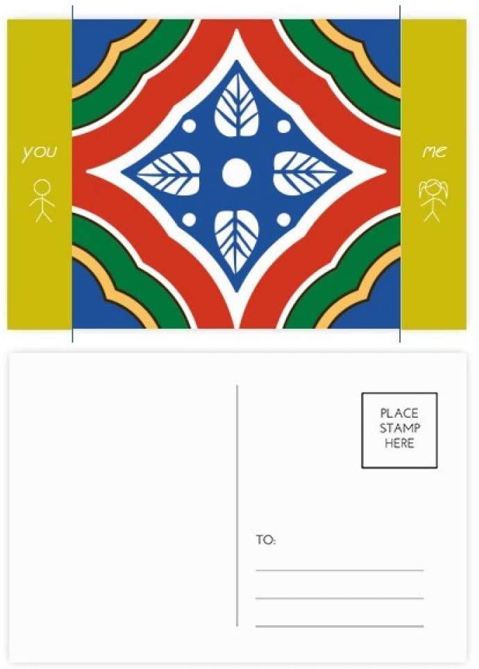 Talavera Style Pattern Decorative Friend Postcard Set Thanks Card Mailing Side 20pcs