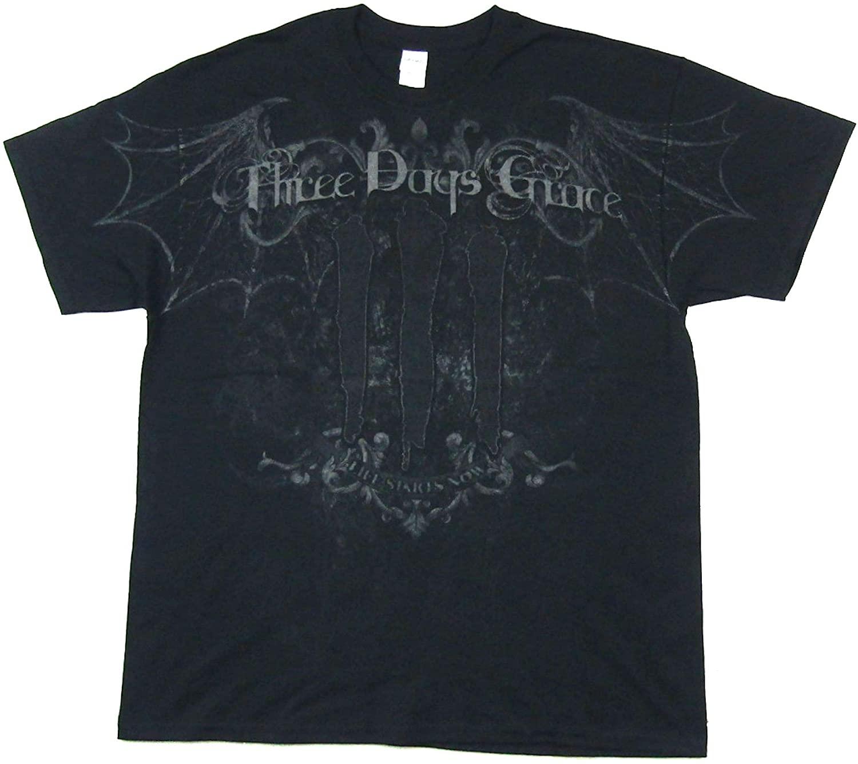 Three Days Grace Bat Skull All Over Print Black T Shirt