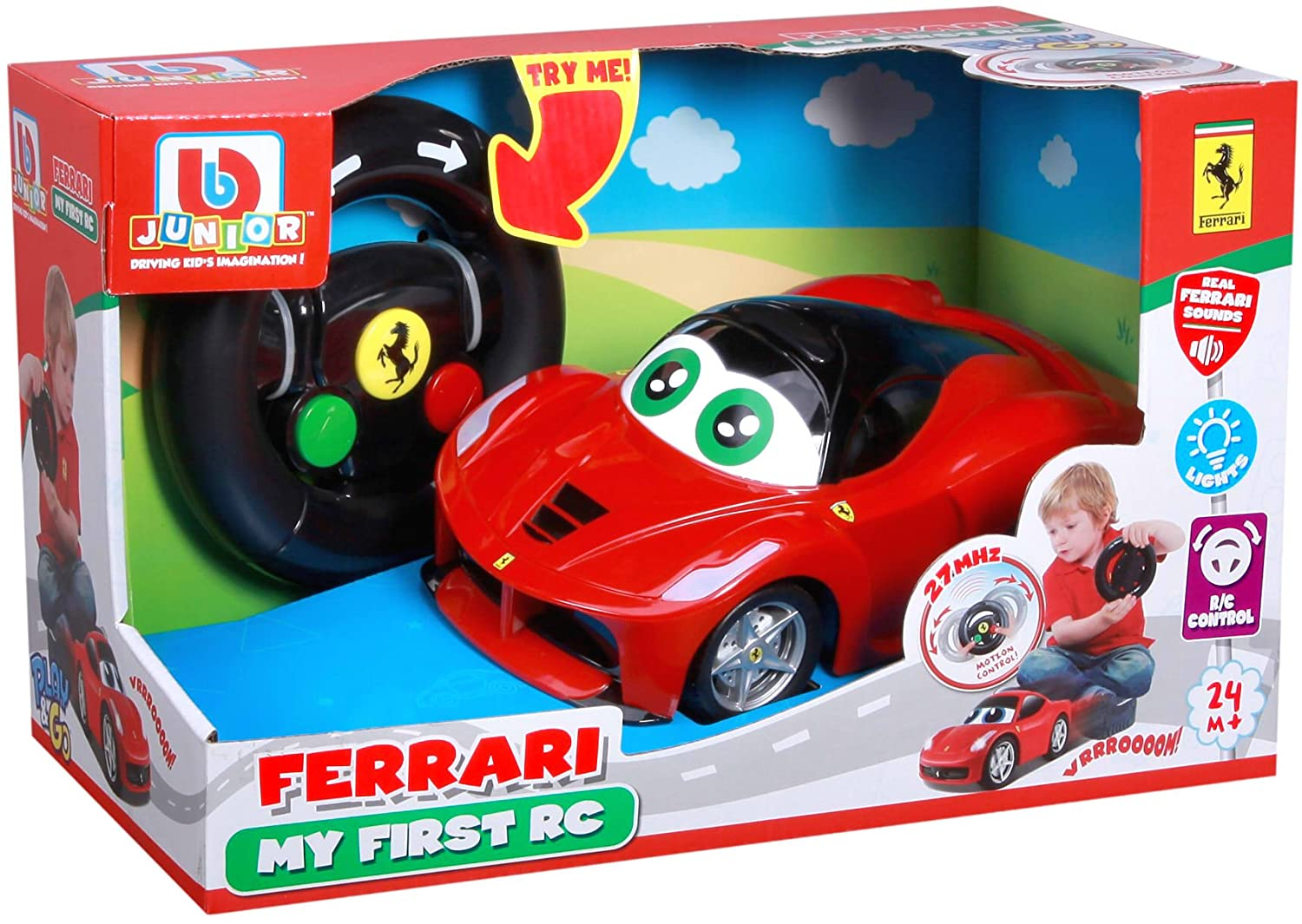 BB Junior Play & Go Ferrari My First R/C Laferrari Vehicle