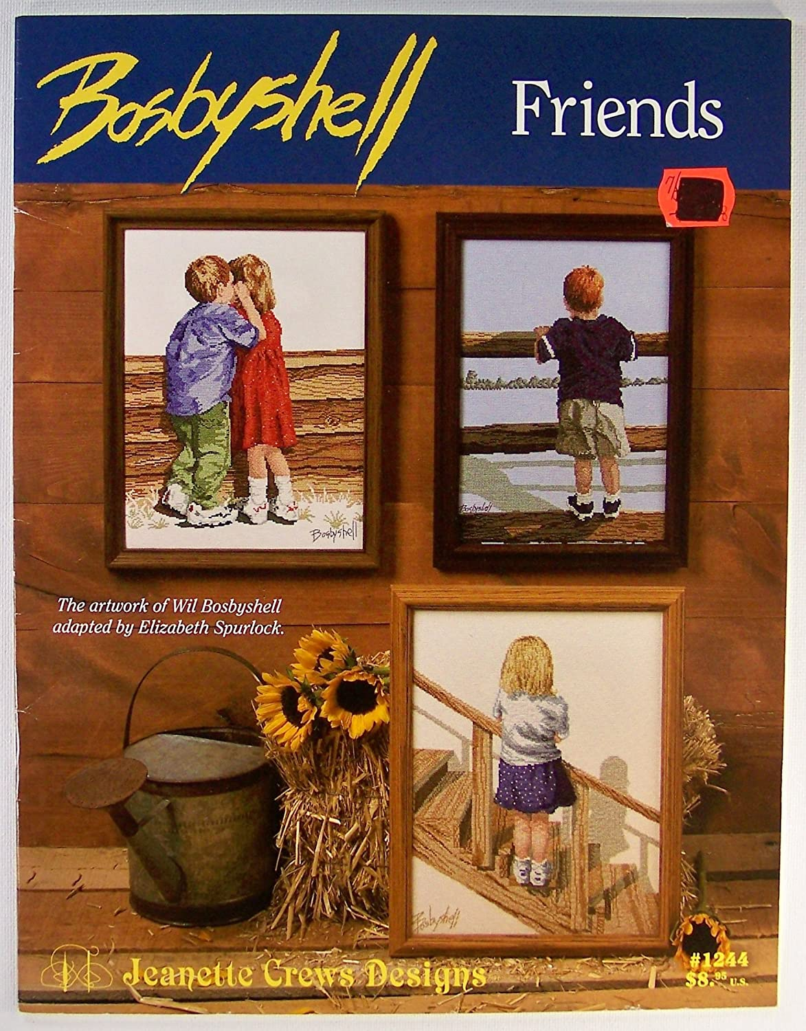 Jeanette Crews Designs Bosbyshell FRIENDS #1244 Counted Cross Stitch Pattern