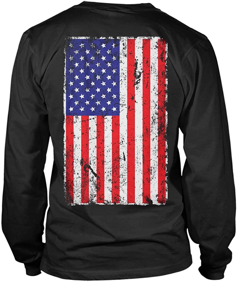 Distressed USA Flag - United States of America Unisex Long Sleeve Shirt