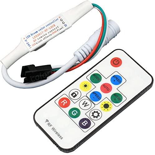 Nagulagu DC5V-24V 358 Kinds of Changes Effects RF Remote Controller 14 Keys For WS2812B WS2811 led Strip