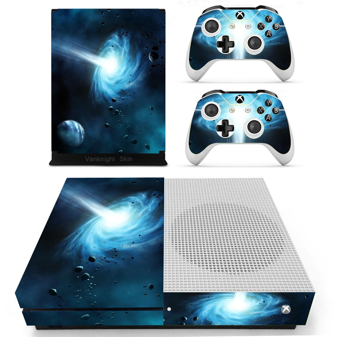 Vanknight Vinyl Decal Skin Stickers Cover for Xbox One S Slim Console Remotes