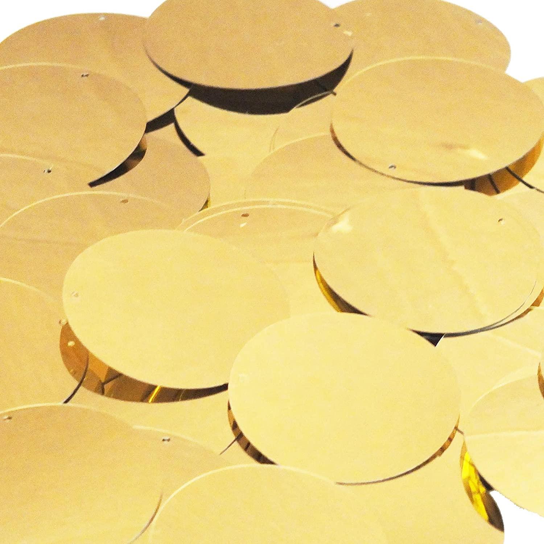 Gold Shiny Metallic Round 1.5