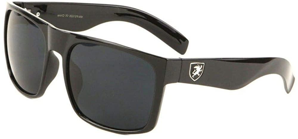 Khan Square Retro Classic Flat Top Sport Sunglasses