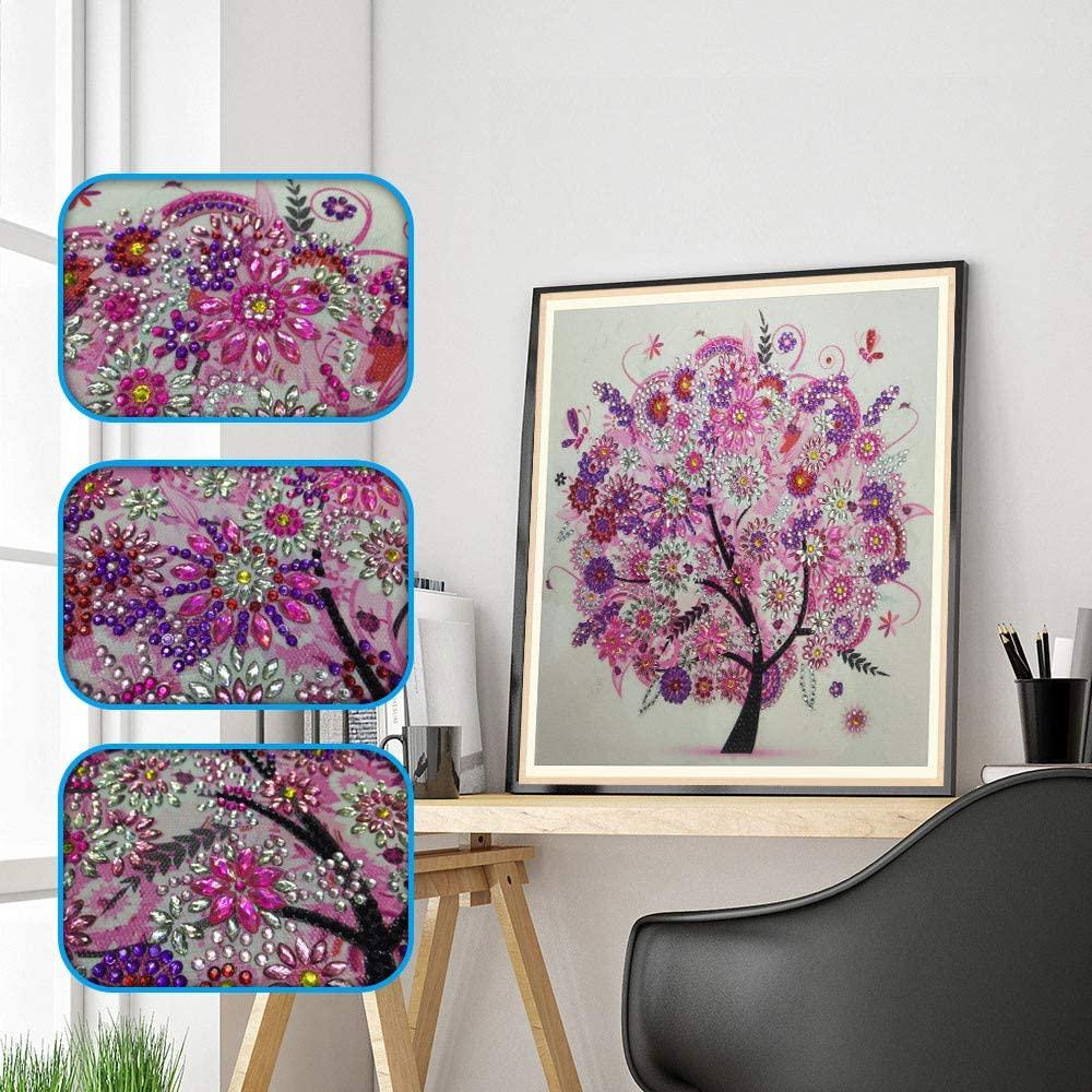 UOKNICE 5D Diamond Painting Kit Full Drill DIY Rhinestone Embroidery Cross Stitch Arts Craft for Home Wall Decor