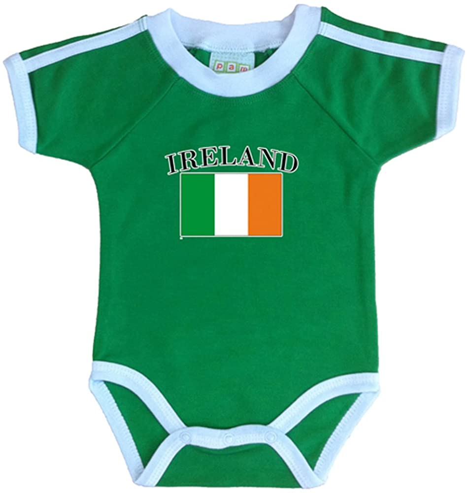 PAM GM Ireland Soccer Bodysuit with White Piping