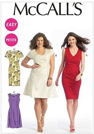 McCalls Ladies Easy Sewing Pattern 6920 Princess Seam Dresses