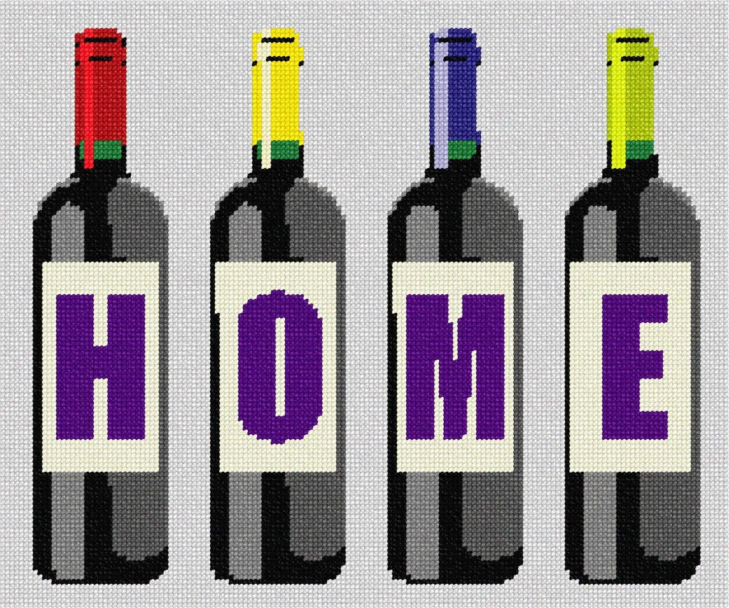 pepita Home Wine Bottles Needlepoint Kit