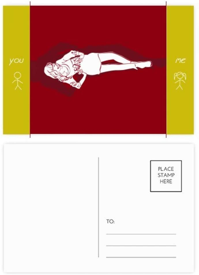 Red Fashion Beauty Woman Friend Postcard Set Thanks Card Mailing Side 20pcs