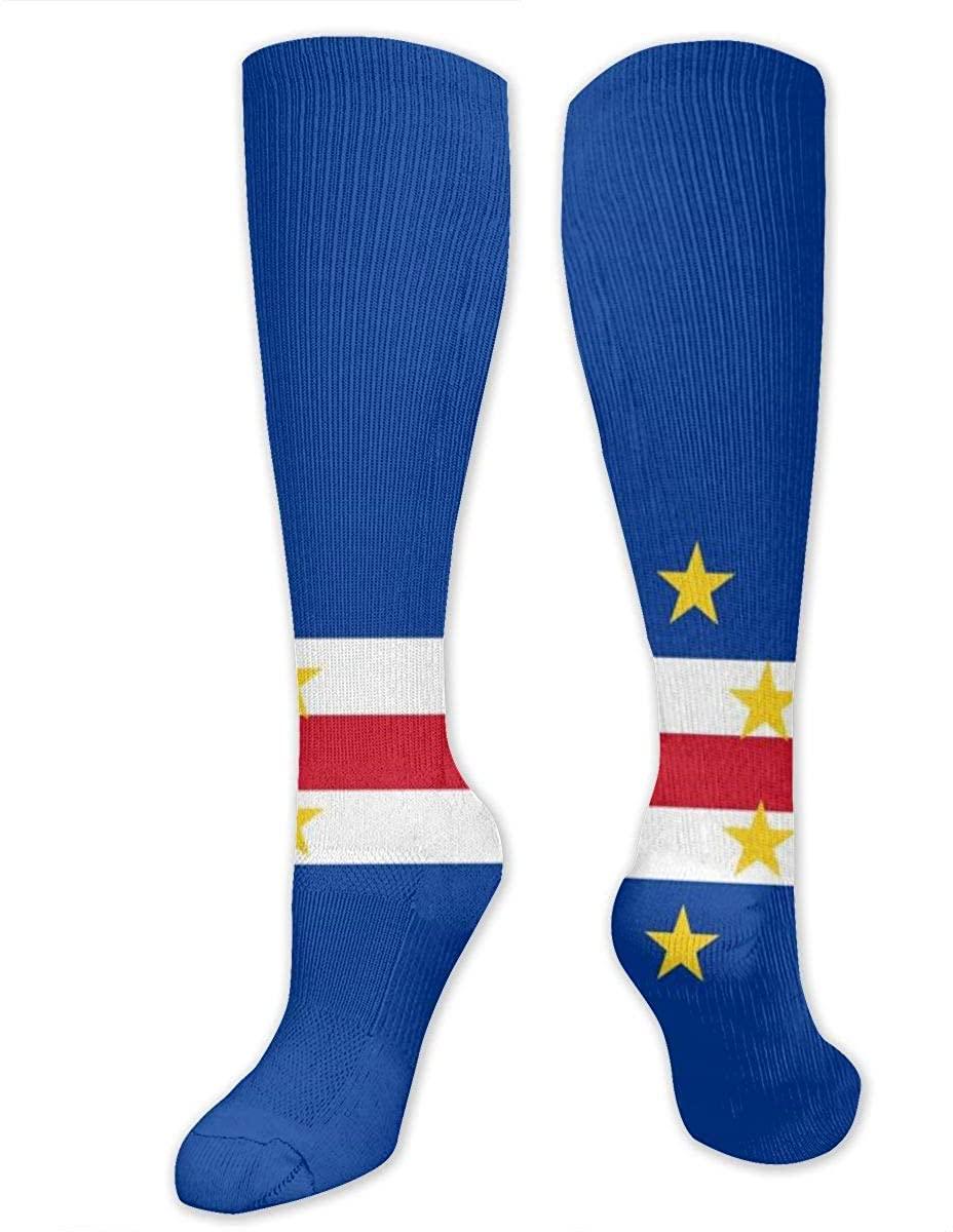 Knee High Socks For Men Women Cape Verde Flag Training Crew Tube Hose Stockings