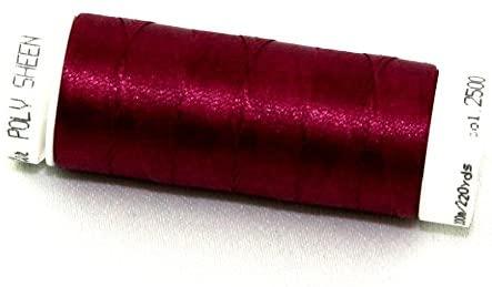 Mettler Polysheen Polyester Machine Embroidery Thread 200m 200m 2500 Boysenberry - each