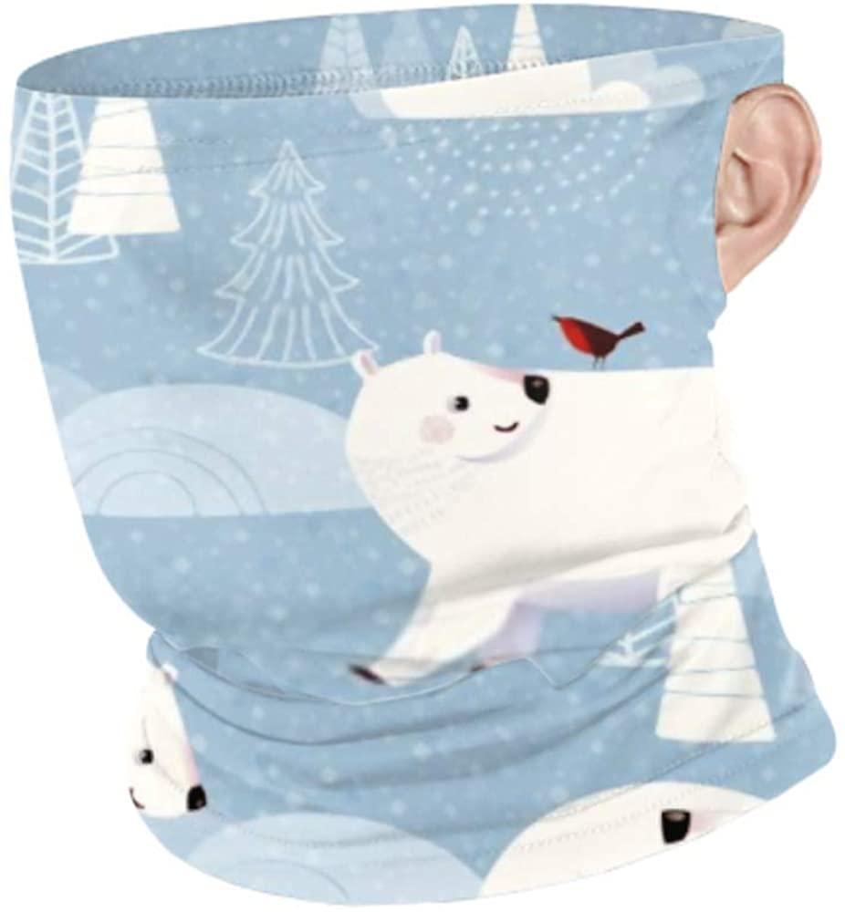 Windproof Face Mask Scarf Men Women Neck Gaiterr Winter Vector Seamless Pattern Cute Polar Hanging Ear Face Mask Protection Men Ski Mask For Sport&ou