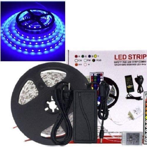 Waterproof 5M Blue 300 5050LED Flexible LED Strip Light + Power Supply