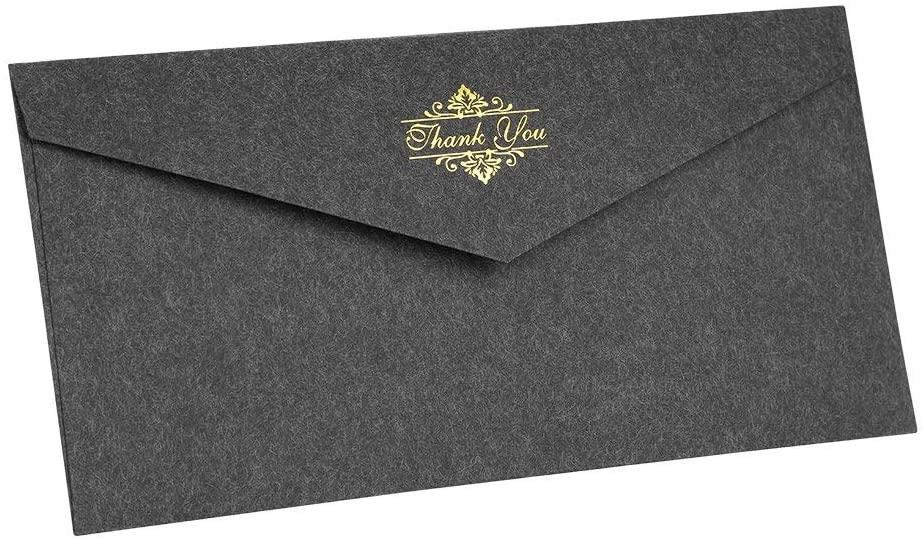 Crayoasis Pack of 10 Envelopes Delicate Hot Stamping Storage Envelope Vintage Western Style Invitation Envelope Square Flap Envelopes Blank Envelope Gift Set for Wedding Birthday Business Invitations