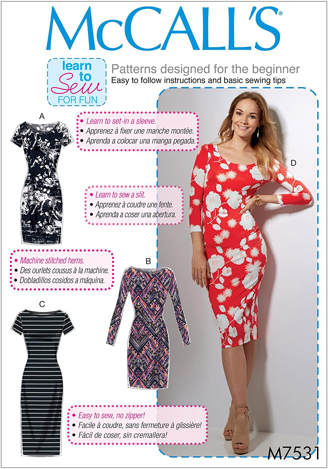 McCall's Patterns Bodycon Dresses Sewing Pattern