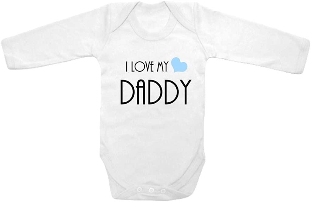 Baby Tee Time Long Sleeve Baby Boys' Heart I Love My Daddy One Piece