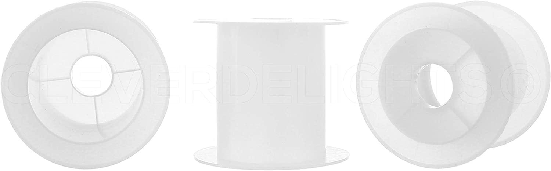 CleverDelights Plastic Spools - 1 5/8