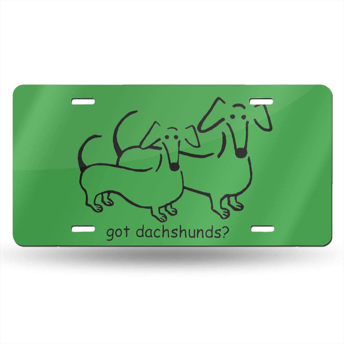 NUANYANG Got Dachshunds License Plate Auto Car License Plate Tag 6