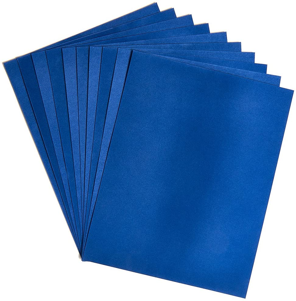 Hygloss Products 5 Sheets Dark Blue Velour cardstock